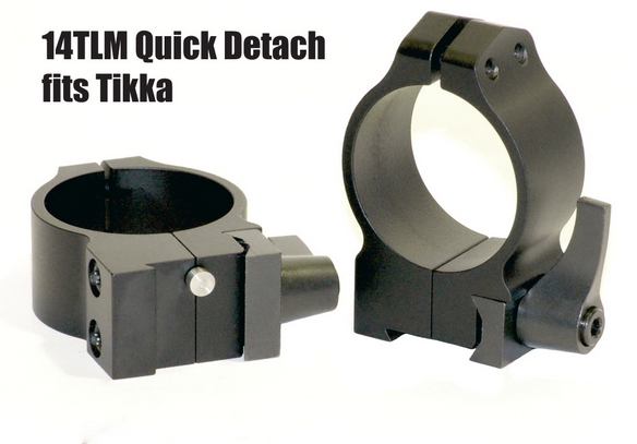 Warne Quick Detach Tikka 14TLM Steel Rings 36-42mm Objektiv