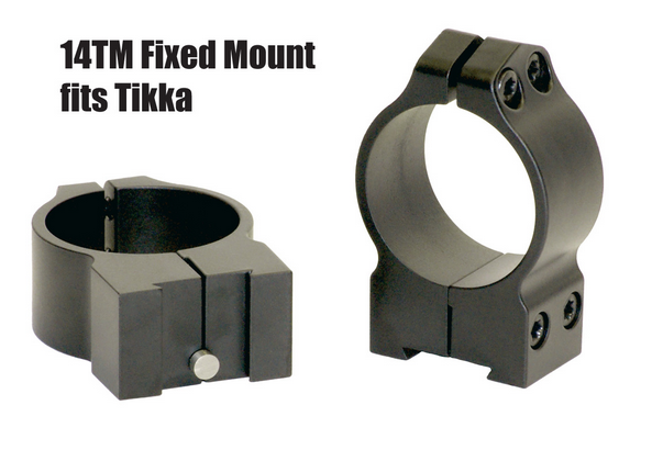 Warne Fixed Mount Tikka 14TM Steel Rings 36-42mm Objektiv