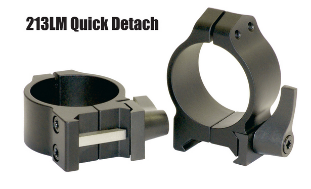 Warne Quick Detach 213LM Steel Rings 36-42mm Objektiv