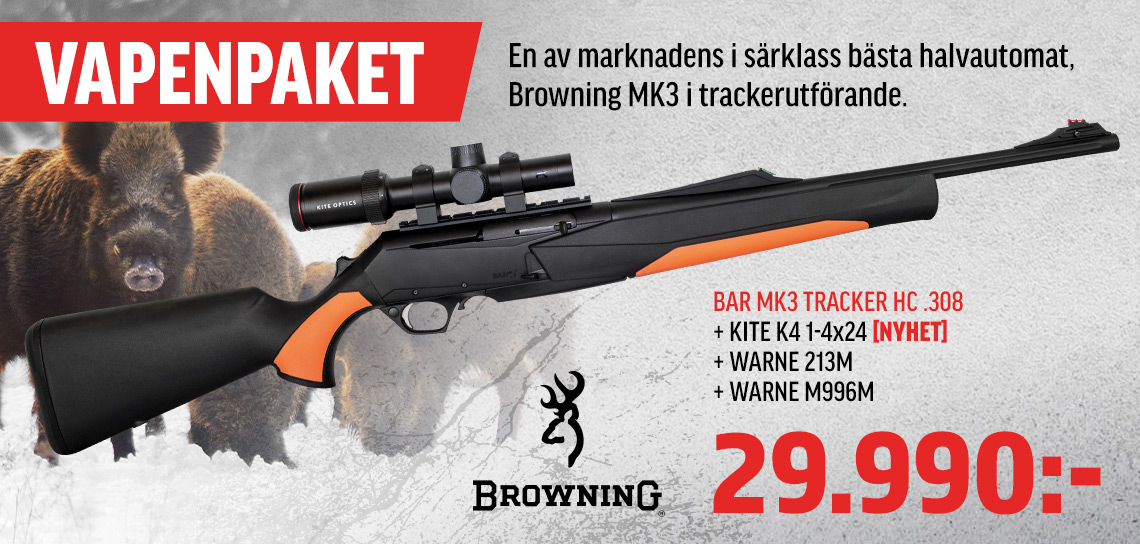 Browning MK3 Tracker ADJ 308win Paket