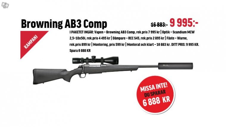 Browning AB3 Compo 308 win paketerbjudande!