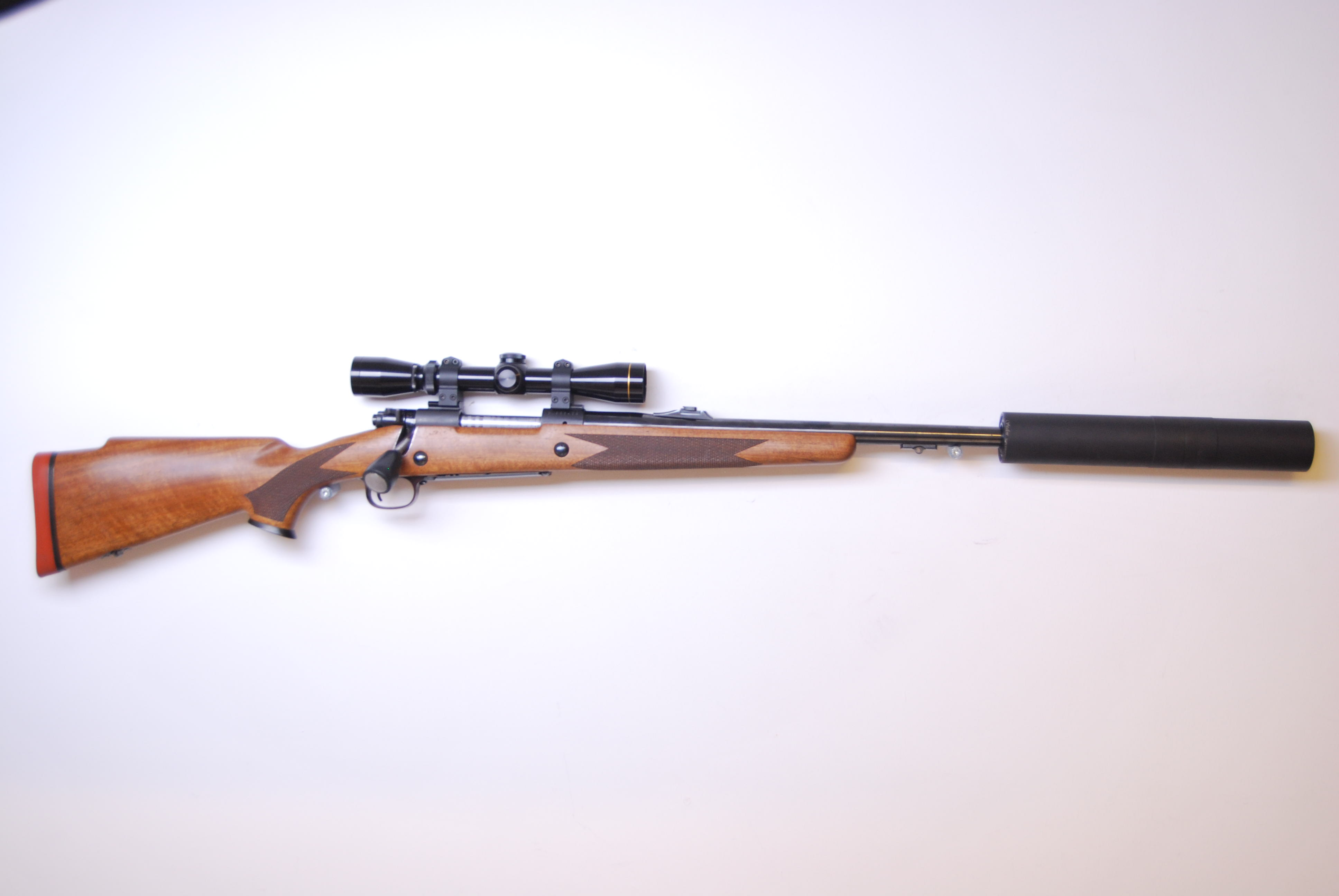 Winchester 70, 375 H&H mag ink Leupold/Stalon